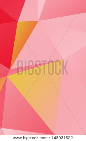 Light pink and orange polygonal illustration .