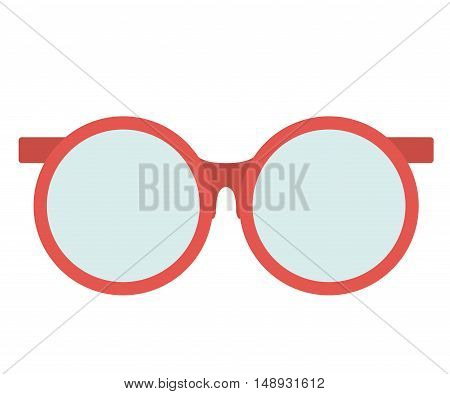 Glasses icon. Accesory fashion and optical theme. Colorful design. Vector illustration