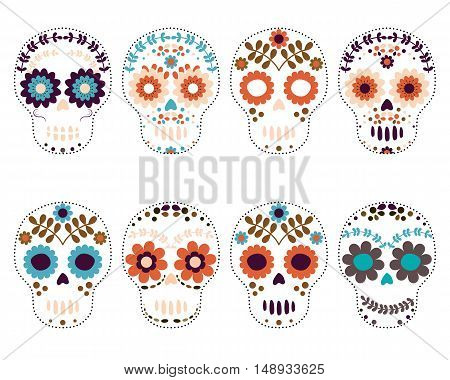 Day of the Dead Sugar Skulls Set