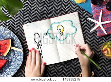 Creative Person Light Bulb Graphic Concept