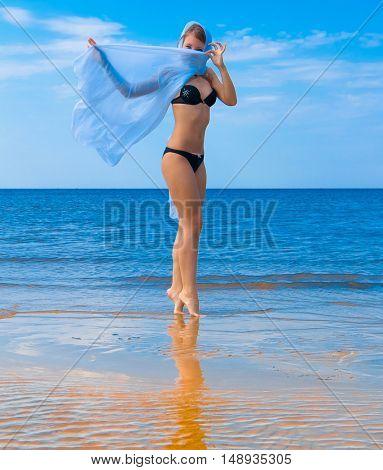 Vacation Woman Model
