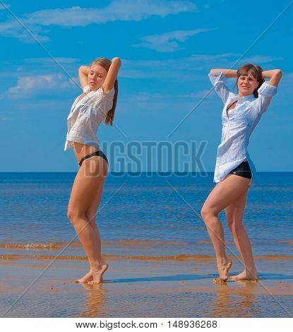 Women Couple Exercising