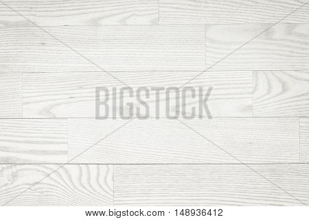 White wooden planks, tabletop, parquet floor surface. Wood texture