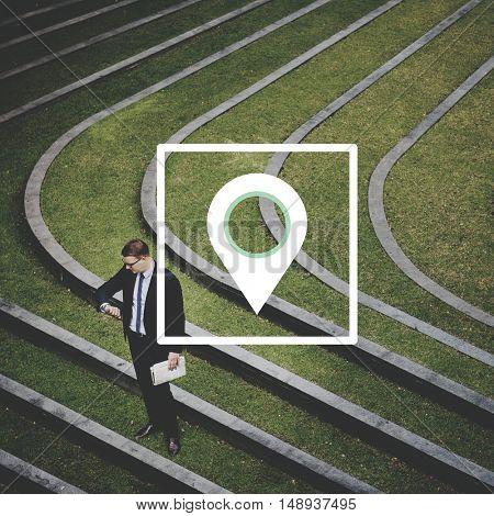 Location Direction Position Navigation Destination Concept