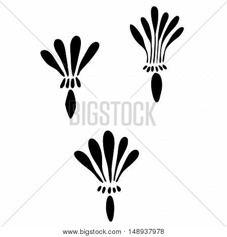 Very high quality original trendy  vector illustration of a dandelion seed