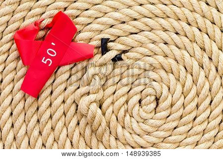 New Strong Rope With Red Marker For A Tug Of War
