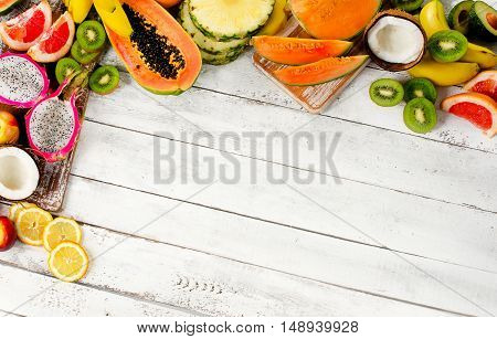 Exotic Tropical Fruits Mix