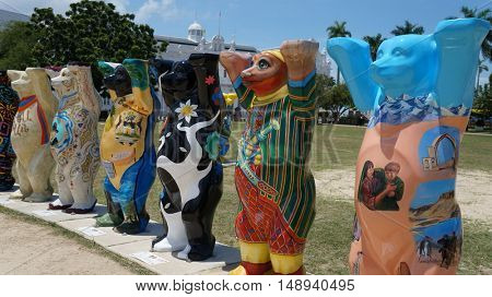 PENANG, MALAYSIA - September 24, 2016:United Buddy Bears exhibition on September 24 in Penang, Malaysia.
