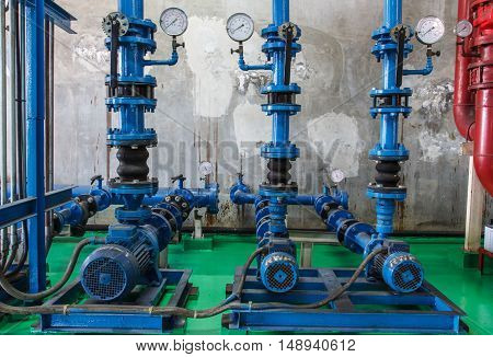 The Pipe valve water connection on industry