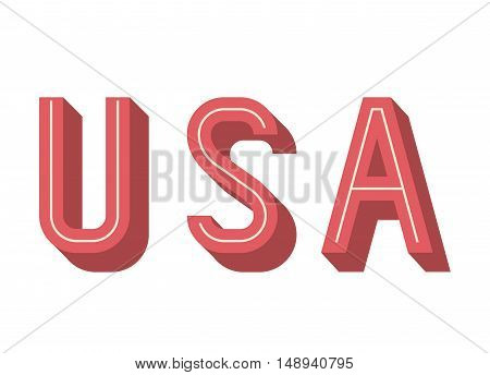 usa and Labor day icon. Patriotism Party festival and national theme. Colorful design. Vector illustration