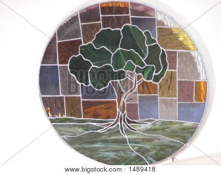 Stained Glass Of Tree