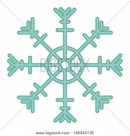 Snowflake icon. Merry Christmas season and decoration theme. Isolated design. Vector illustration