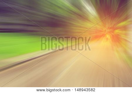 Image Of Abstract Blur Road With Motion.