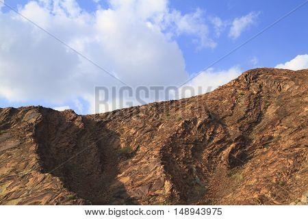 Mountains Ridge in Sultanate of Oman, Arabia
