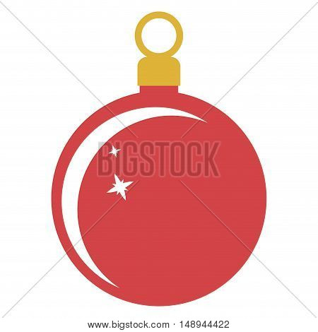 Sphere icon. Merry Christmas season and decoration theme. Isolated design. Vector illustration