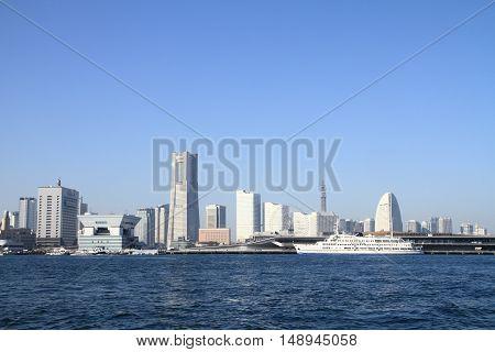 Yokohama Minato mirai 21 in Kanagawa Japan