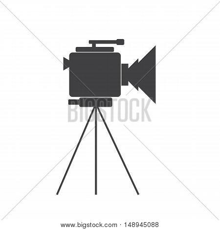 Video camera icon on the white background. Cinema. Vector illustration