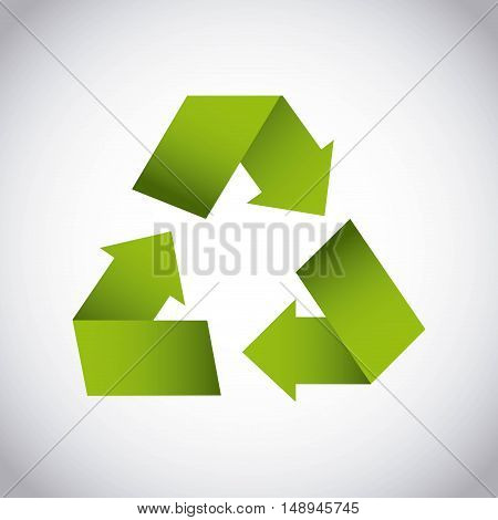 recycle arrows symbol ecology vector illustration design