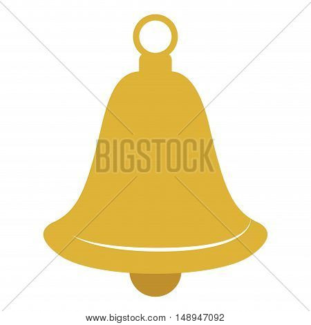 Bell icon. Merry Christmas season and decoration theme. Isolated design. Vector illustration