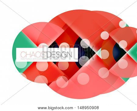Round shapes, vector circle banner with sample text