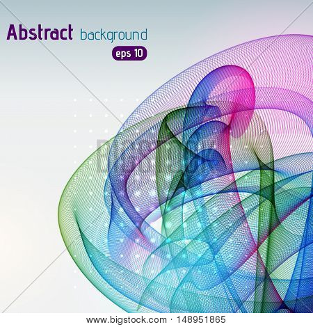 Abstract Background With Colorful Smooth Lines. Color Waves, Pattern, Art, Technology Wallpaper, Tec