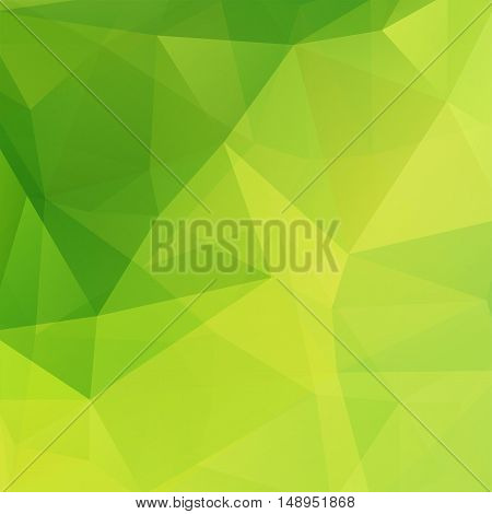 Background Made Of Triangles. Square Composition With Geometric Shapes. Eps 10 Green Color