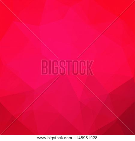 Background Made Of Pink Triangles. Square Composition With Geometric Shapes. Eps 10