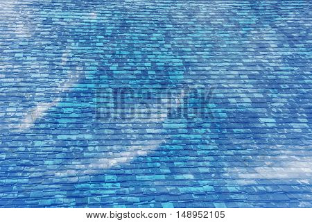 Blue Sky And White Clouds With Wall Texture Screen F.