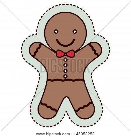 Coockie icon. Merry Christmas season and decoration theme. Isolated design. Vector illustration