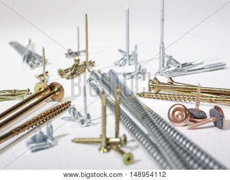 lots of various screws in light back