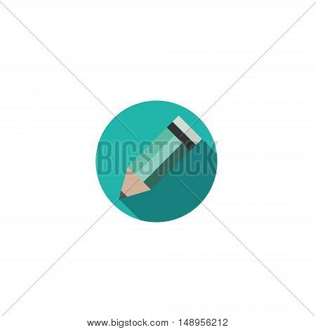Pencil. Flat Design vector icon for your web-site.