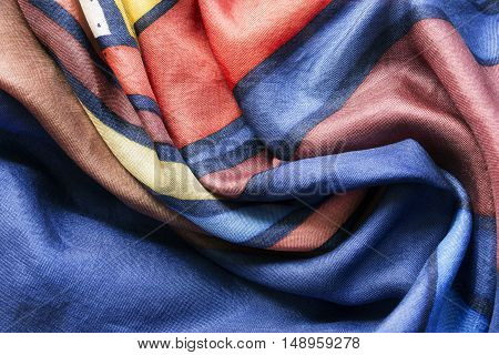 Colorful silk draped cloth as a background