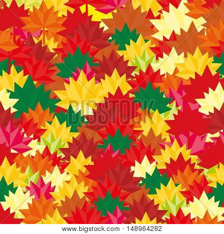 Autumn Background vector Abstract Leaves Square Fall pattern for your Banners, Wallpapers, Mailing, Design, Proposals, Cards