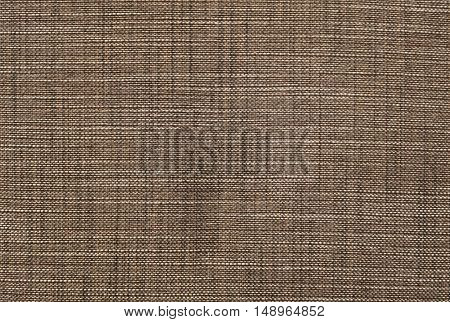 Fabric Texture Close Up of Dark Brown and White Fabric Texture Pattern Background.