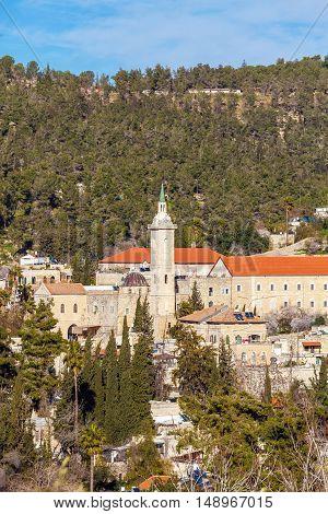 Catholic Сonvent Ein Kerem in Jerusalem Israel