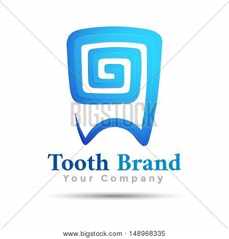 Dental logo vector tooth symbol design illustration. Template for your business company. Creative abstract colorful concept.