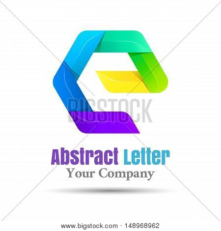 E Letter Logo Icon Element Vector design illustration. Template for your business company. Creative abstract colorful concept.