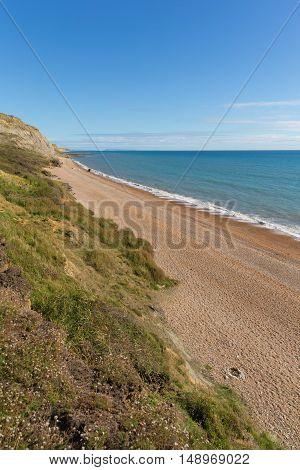 Dorset coast Eype England uk south of Bridport and near West Bay