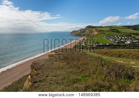 South west coast path Eype Dorset England uk near of Bridport and West Bay