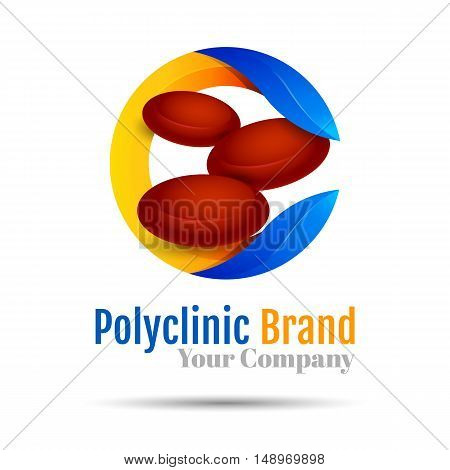 Blood Donation. Vector logo design illustration. Template for your business company. Creative abstract colorful concept.