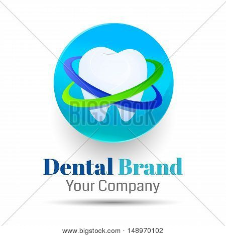 Dentistry Vector logo design illustration. Template for your business company. Creative abstract colorful concept.