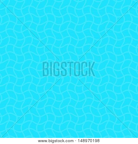 Creative blue vector lattice wavy line seamless pattern