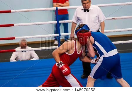 Orenburg, Russia - From April 29 To May 2, 2015 Year: Boys Boxers Compete