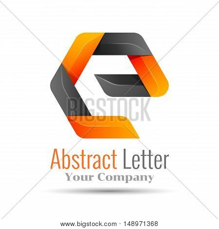 Abstract letter E logo design template. Colorful Vector logo design illustration. Template for your business company. Creative abstract colorful concept.