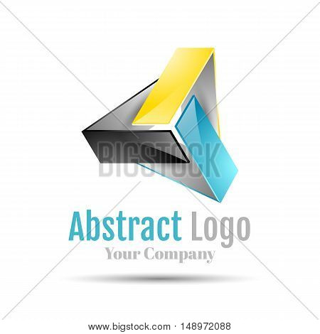 Triangle logo vector icon illustration. Template for your business company. Creative abstract colorful concept.