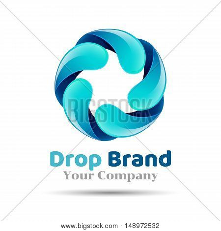 Mineral natural water vector icon design. Aqua drop logo.