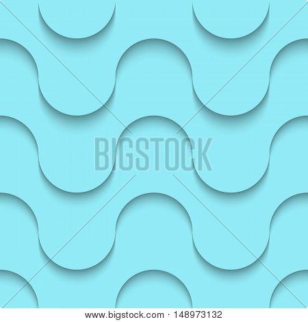 Halftone blue seamless pattern weaves modern material design style background horizontal layout geometric shape