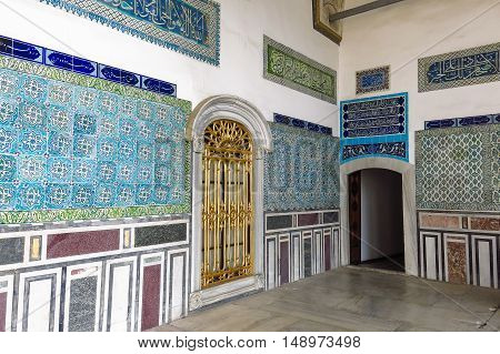 Beautiful Decoration On The Topkapi Palace, Istanbul, Turkey.