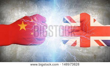 UK vs China  3D Render