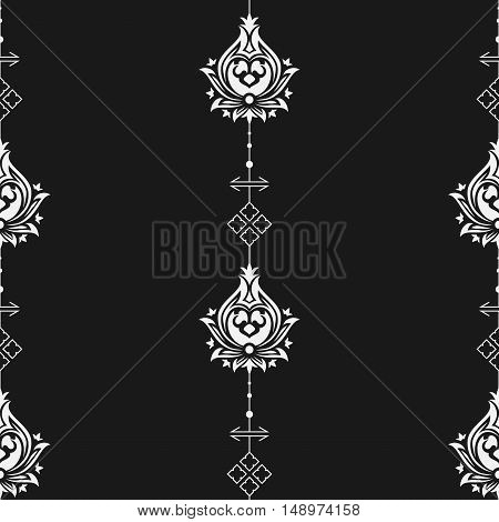 Seamless eastern style pattern. Arabic repeating ornament